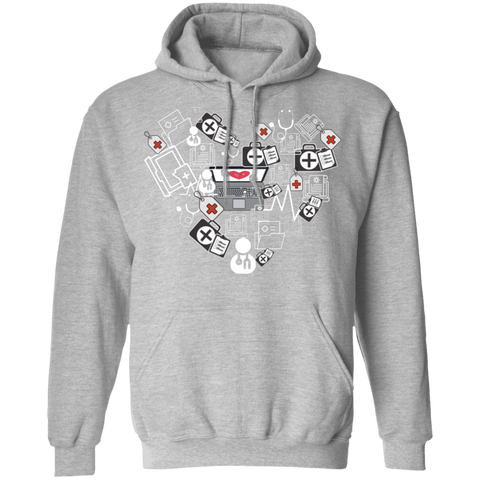 Medical Coder Heart Pullover Hoodie