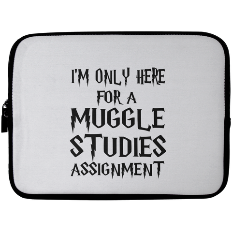 I'm Only Here For a Muggle Studies Assignment Laptop Sleeve - 10 inch
