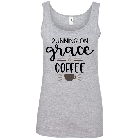 Running on grace  & coffee  Tank Top