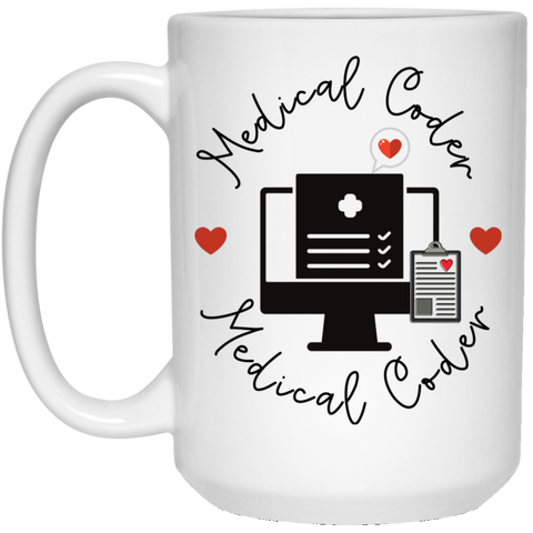 Medical coder  love  15 oz. White Mug