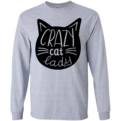 Crazy Cat Lady LS Tshirt