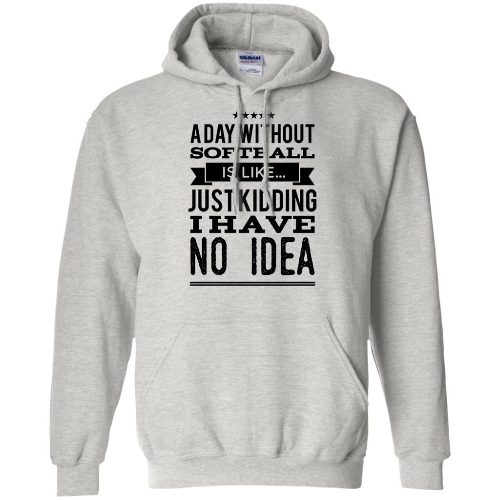 A day without Softball  is like .. just kidding i have no idea  Pullover Hoodie