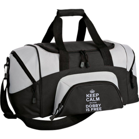 Keep Calm Because Dobby is Free Small Colorblock Sport Duffel Bag