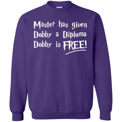 Crewnecks - Master Has Given Dobby A Diploma Dobby Is Free  Crewneck Pullover Sweatshirt  8 Oz