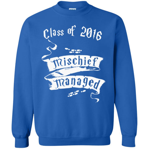 Mischief Managed Class of 2016  Crewneck Pullover Sweatshirt  8 oz