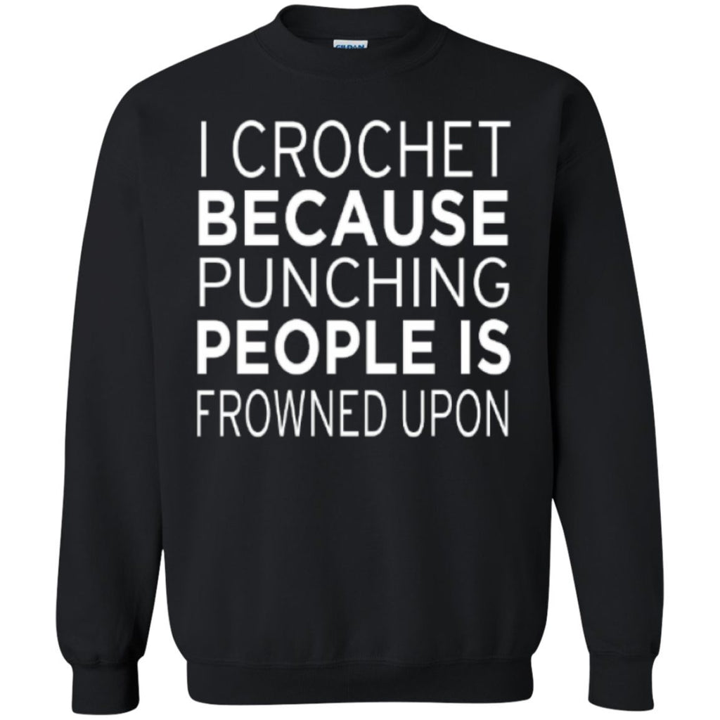 Crewnecks - Printed Crewneck Pullover Sweatshirt  8 Oz
