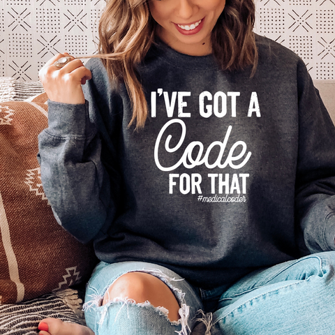 I've got a code for that  Crewneck Pullover Sweatshirt  8 oz.
