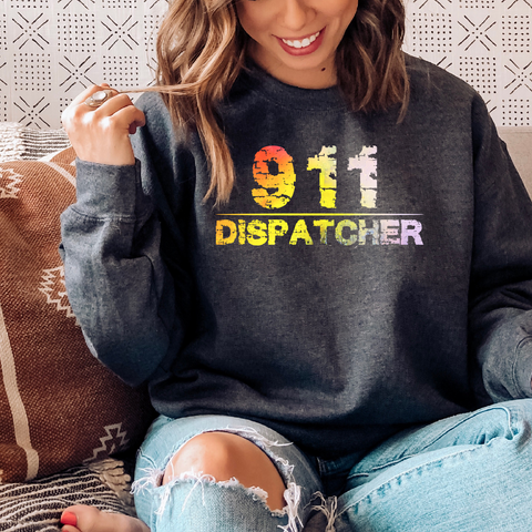 911  Dispatcher Crewneck Pullover Sweatshirt  8 oz.