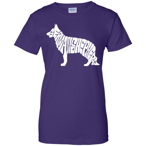 Featured Products - German Shepherd  Ladies 100% Cotton T-Shirt
