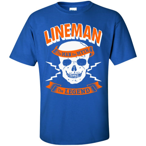 Featured Products - Lineman The Man The Myth The Legend  Cotton T-Shirt