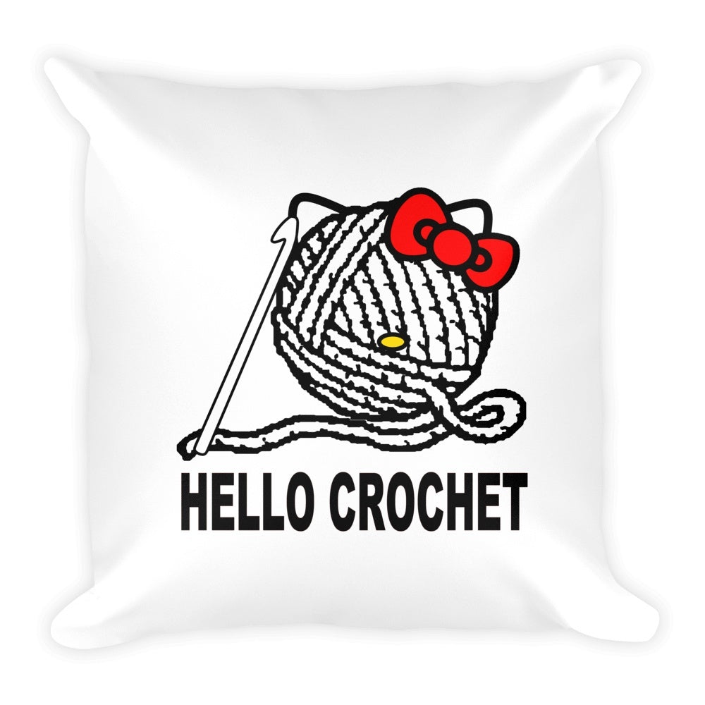 Hello Crochet Pillow Covers