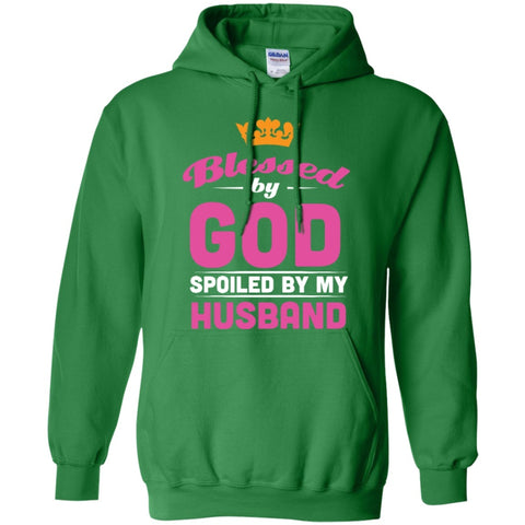 Hoodies - Blessed By God Spoiled By My Husband   Hoodie 8 Oz