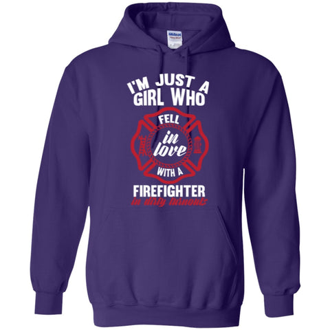 Hoodies - Girl Fell In Love With A Firefighter Hoodies