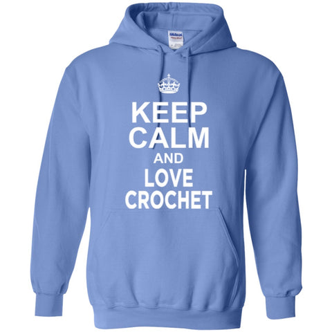 Hoodies - Keep Calm And Love Crochet Hoodie
