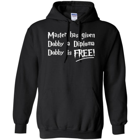 Hoodies - Master Has Given Dobby A Diploma Dobby  Hoodie 8 Oz