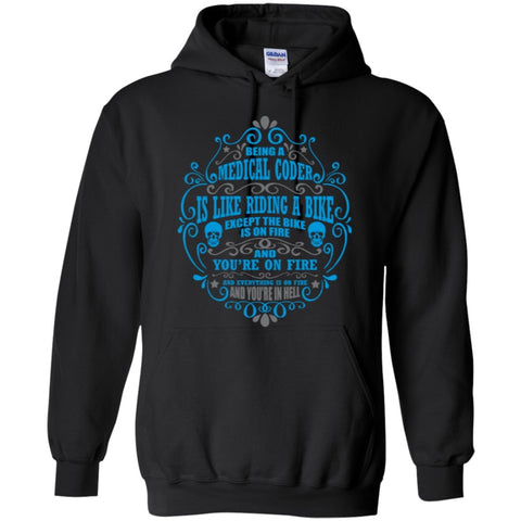 Hoodies - Medical Coder Is Like  Riding A Bike  Pullover Hoodie