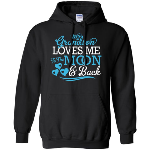 My Grandson loves me  Hoodie 8 oz