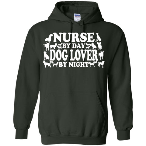 Hoodies - Nurse By Day Dog Lover By Night   Hoodie 8 Oz