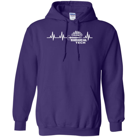 Hoodies - Surgical Tech Heartbeat  Hoodie 8 Oz