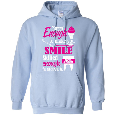 Hoodies - Sweet Enough To Make You Smile Skilled Enough To Protect It  Hoodie