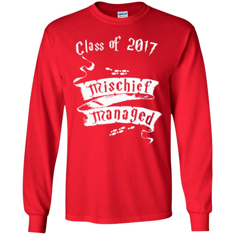 Long Sleeve - Mischief Managed Class Of 2017   Ultra Cotton Tshirt