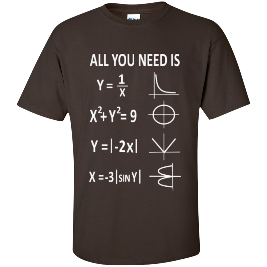 All you need is love math t shirt teeholic for I love you t shirts