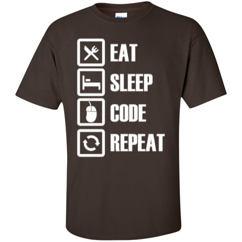 Short Sleeve - Eat Sleep Code Repeat  T-Shirt