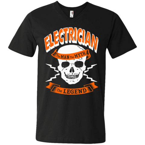Electrician The Man The Myth The Legend   Printed V-Neck T