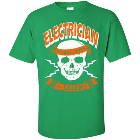 Short Sleeve - Electrician The Man The Myth The Legend  T-Shirt