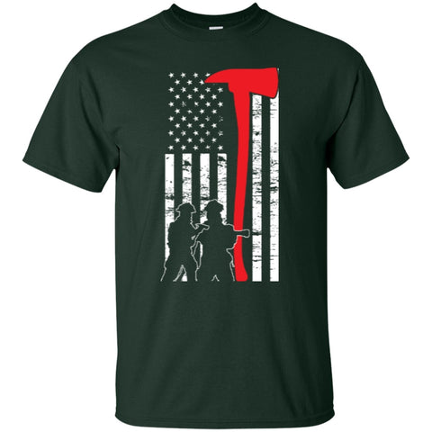 Short Sleeve - Firefighter Flag T-Shirt