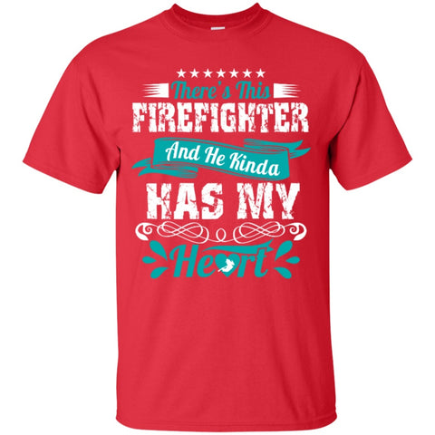 Short Sleeve - Firefighter Has My Heart  T-Shirt
