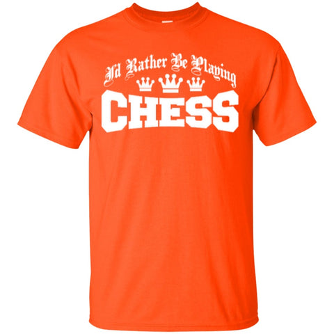 Short Sleeve - I'd Rather Be Playing Chess  T-Shirt