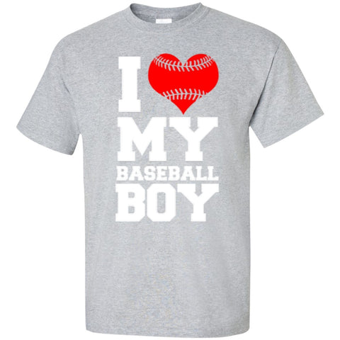 Short Sleeve - I Love My Baseball Boy  T-Shirt