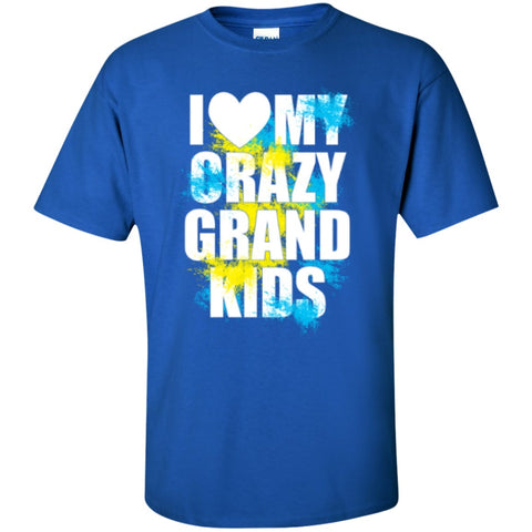 Short Sleeve - I Love My Crazy Grandkids  T-Shirt