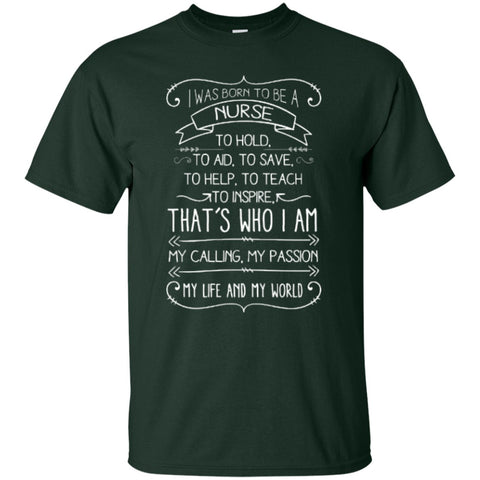 Short Sleeve - I Was Born To Be A Nurse T-Shirt