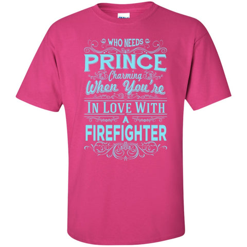 Short Sleeve - In Love With Firefighter  T-Shirt