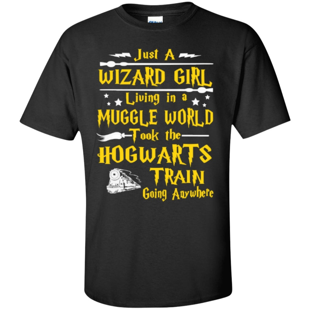Short Sleeve - Just A Wizard Girl Living In A Muggle World  T-Shirt