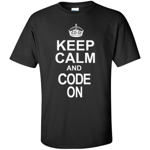 Short Sleeve - Keep Calm And Code On  T-Shirt