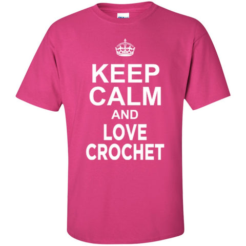 Short Sleeve - Keep Calm And Love Crochet  T-Shirt
