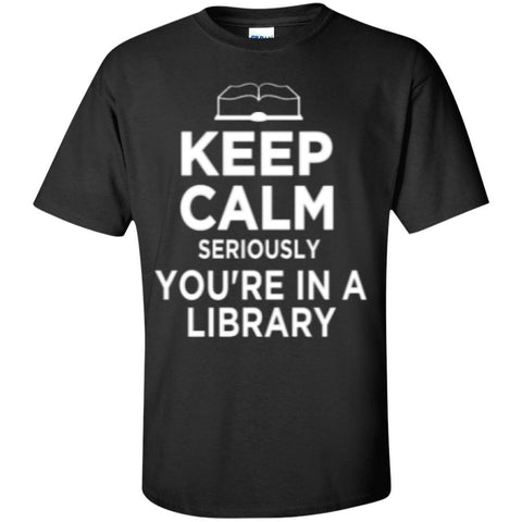 Keep Calm Library   T-Shirt