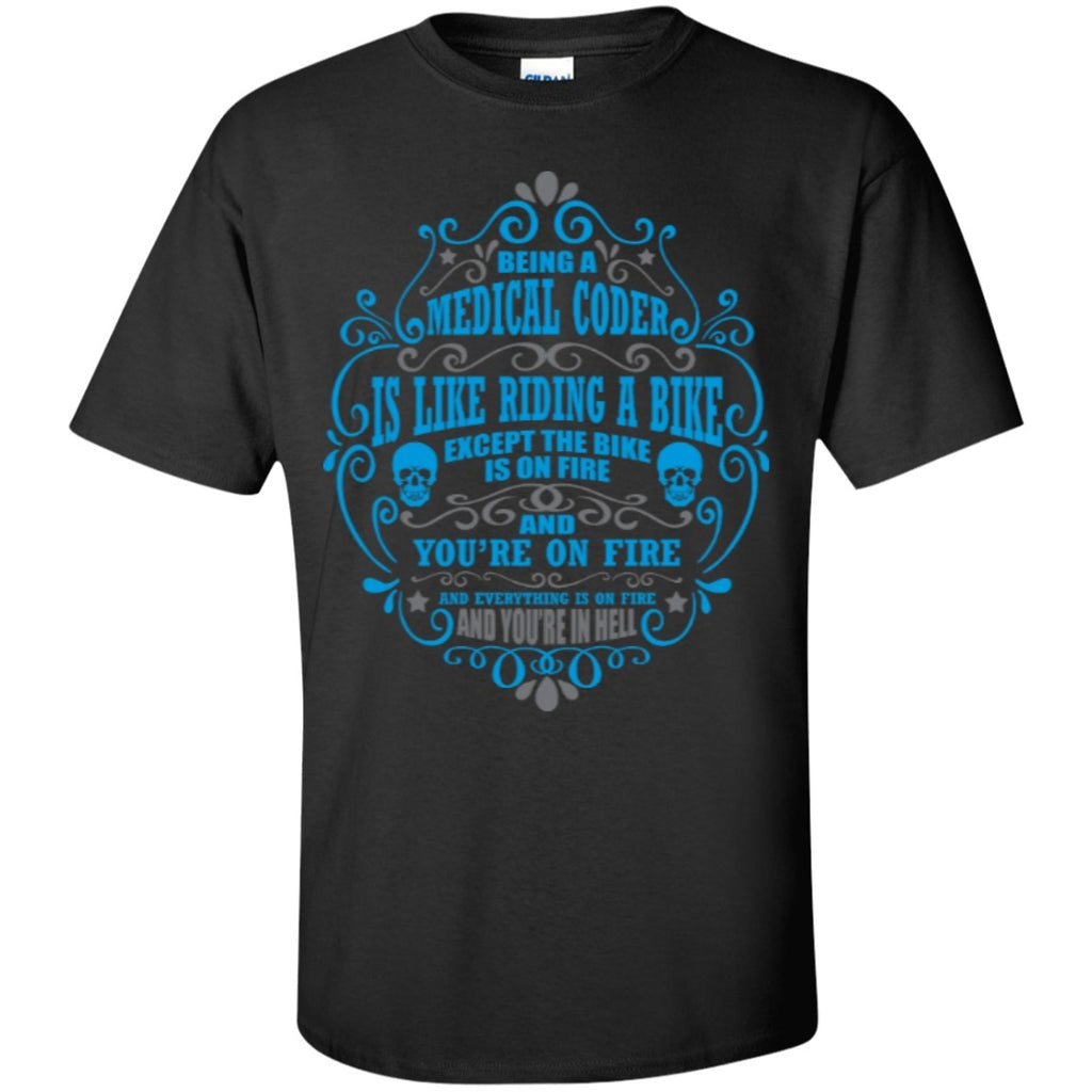 Short Sleeve - Medical Coder Is Like Riding A Bike T-Shirt
