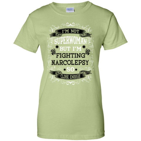 Short Sleeve - Not Superwoman But Fighting Narcolepsy  Custom 100% Cotton T-Shirt
