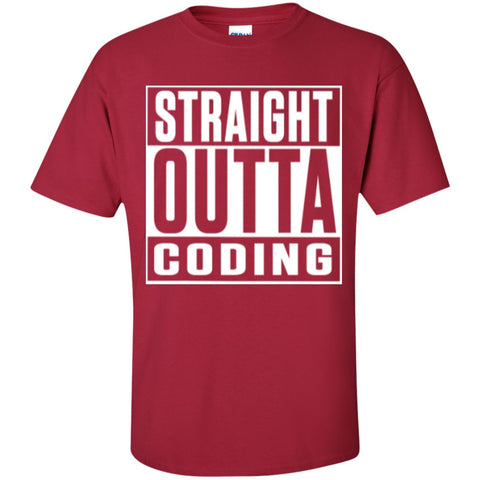 Short Sleeve - Straight Outta Coding  T-Shirt