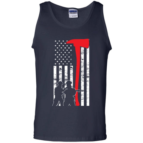 Sleeveless - Firefighter Flag Tank Top