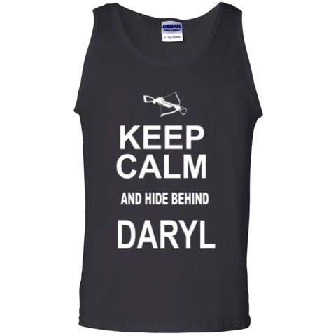 Sleeveless - Keep Calm And Hide Behind Daryl  100% Cotton Tank Top