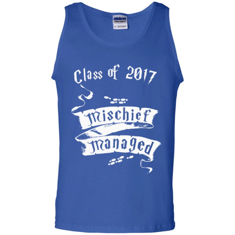 Sleeveless - Mischief Managed Class Of 2017  100% Cotton Tank Top