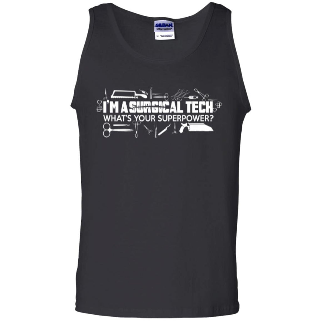 Sleeveless - Surgical Tech Superpower 100% Cotton Tank Top