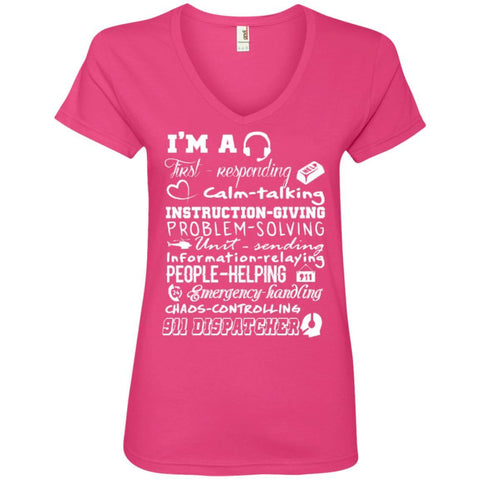 T-Shirts - 911  Poems Ladies' V-Neck Tee