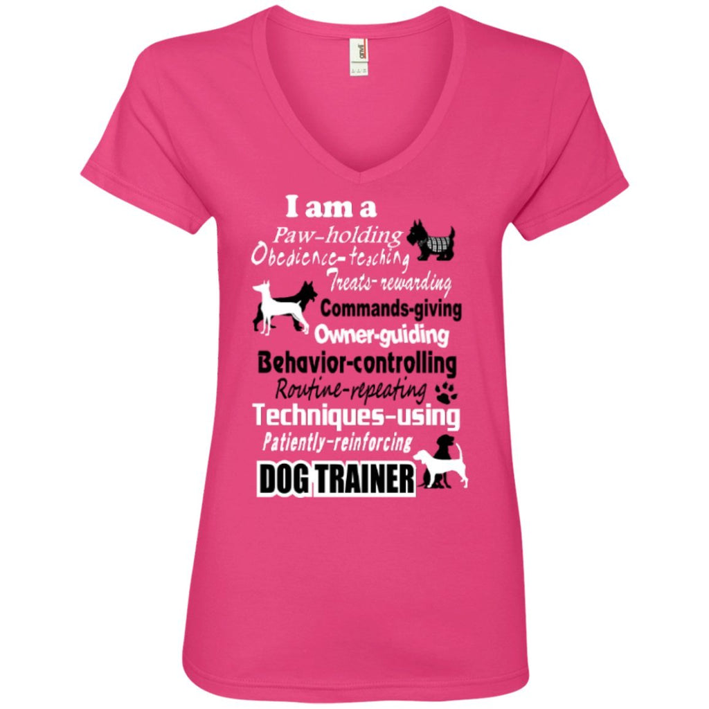 T-Shirts - Dog Trainer  Ladies' V-Neck Tee