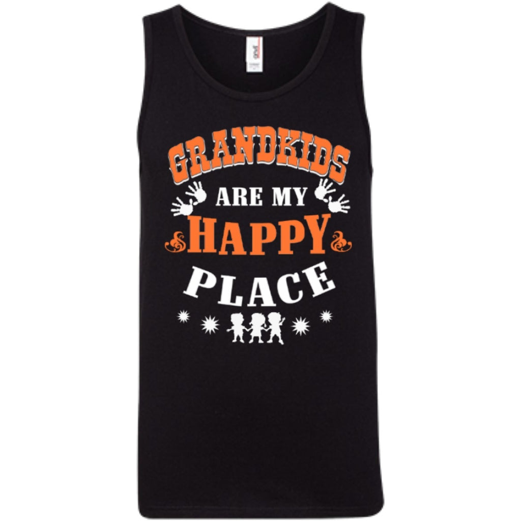 T-Shirts - Grandkids Are My Happy Place T-Shirt  Tank Top